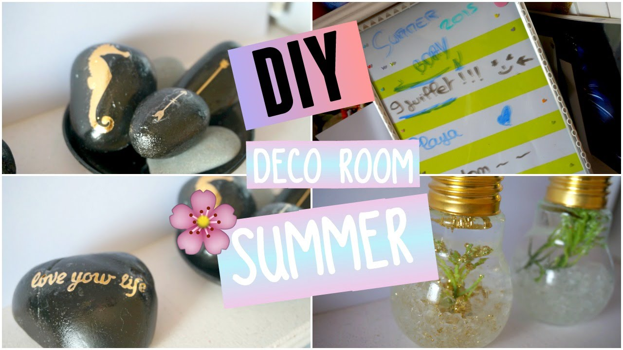 diy d core ta chambre pour l 39 t deco room summer i diy fran ais youtube. Black Bedroom Furniture Sets. Home Design Ideas