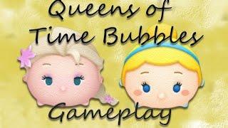 Line Disney Tsum Tsum - Queens of Time Bubble (S. Elsa vs Cinderella)!!