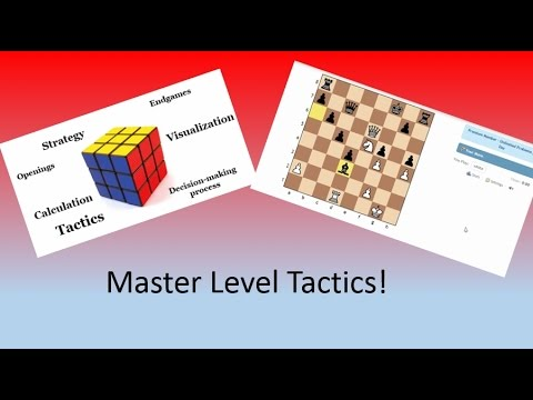 Master Level (2400-2620) Chess Tactics and Explanations!