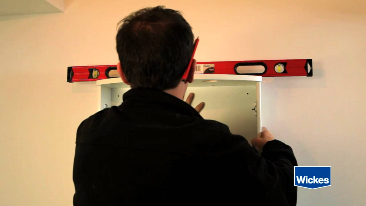 Wickes Kitchen Wall Cabinets How To Hang A Bathroom Cabinet With Wickes Youtube