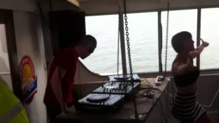 Calvin Logue @ Lost At Sea Boat Party 06/07/13