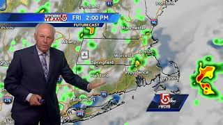 Video: Muggy air, scattered showers possible