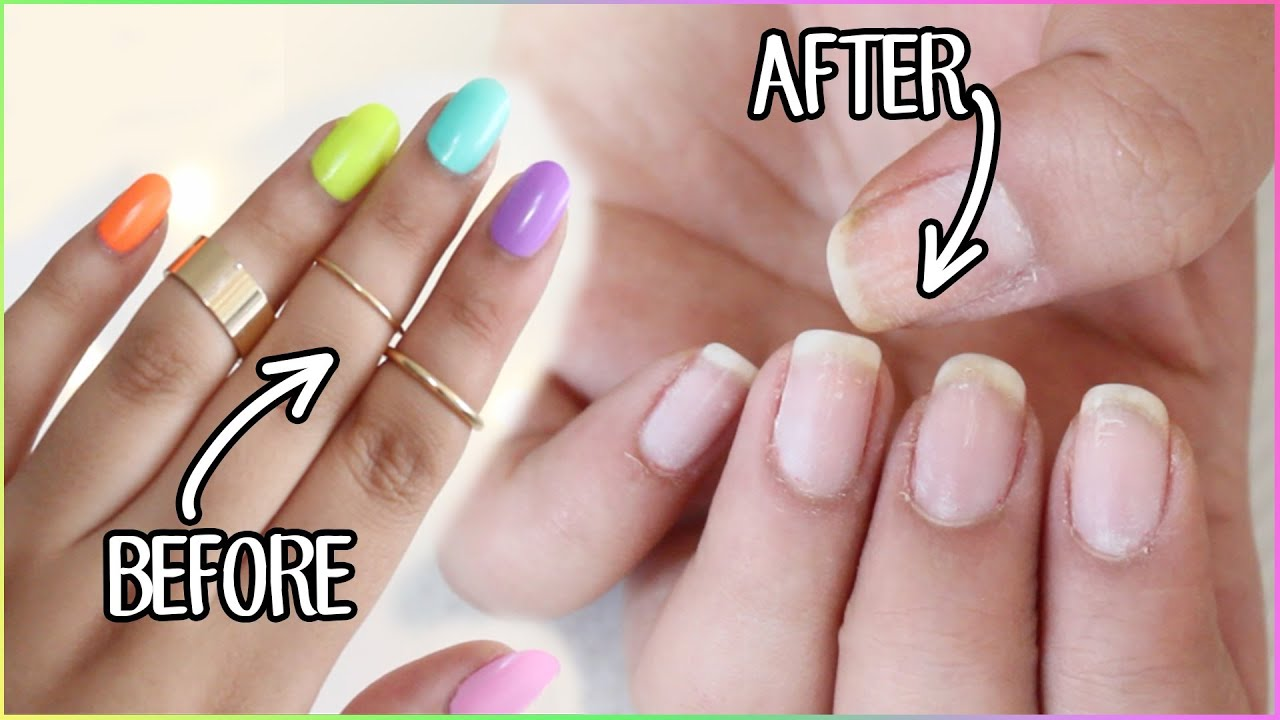 HOW TO REMOVE FAKE NAILS Kiss Glue On Nails Gel Polish Etc