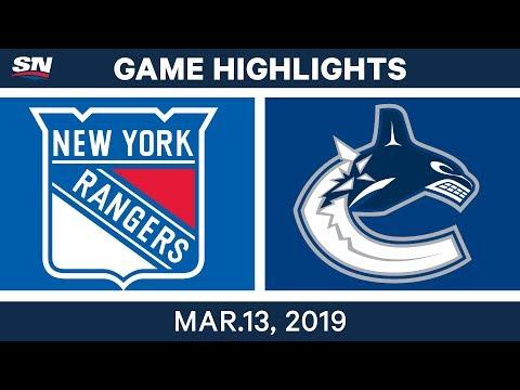 NHL Highlights | Rangers vs. Canucks – Mar 13, 2019