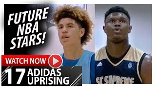Zion Williamson vs LaMelo Ball ELITE Duel Highlights (2017.07.26) Adidas Uprising - The FUTURE!