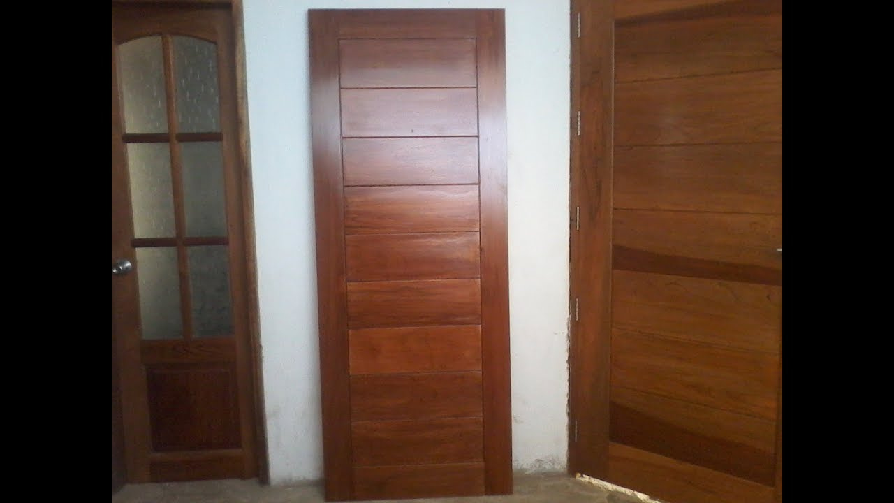 Puerta de madera para dormitorio acabada youtube for Puertas de madera para dormitorios