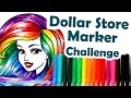 How to Colour, Color with $1.25 Dollar Store Markers Challenge | Mei Yu