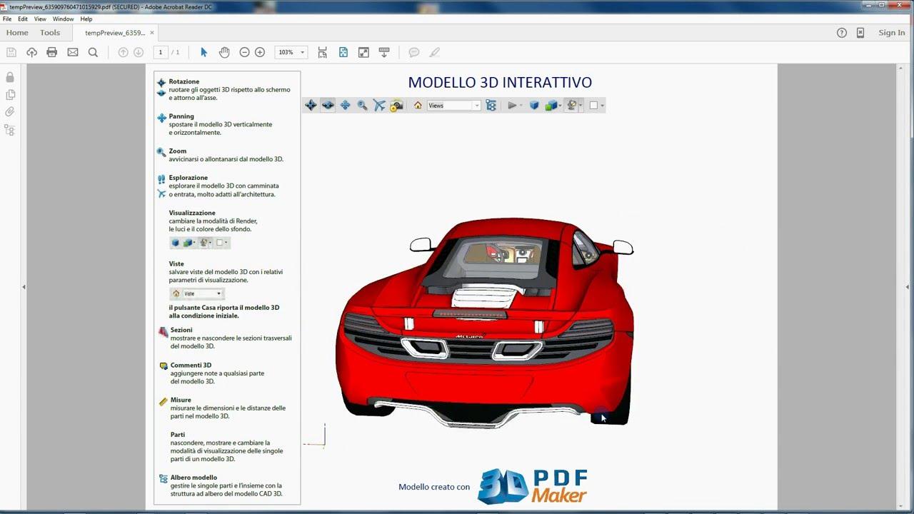 tutorial 3d pdf maker standalone 2f 3d pdf da file dwg