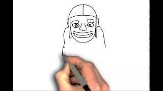 How to draw Clash of Clans characters Builder - drawing tutorial