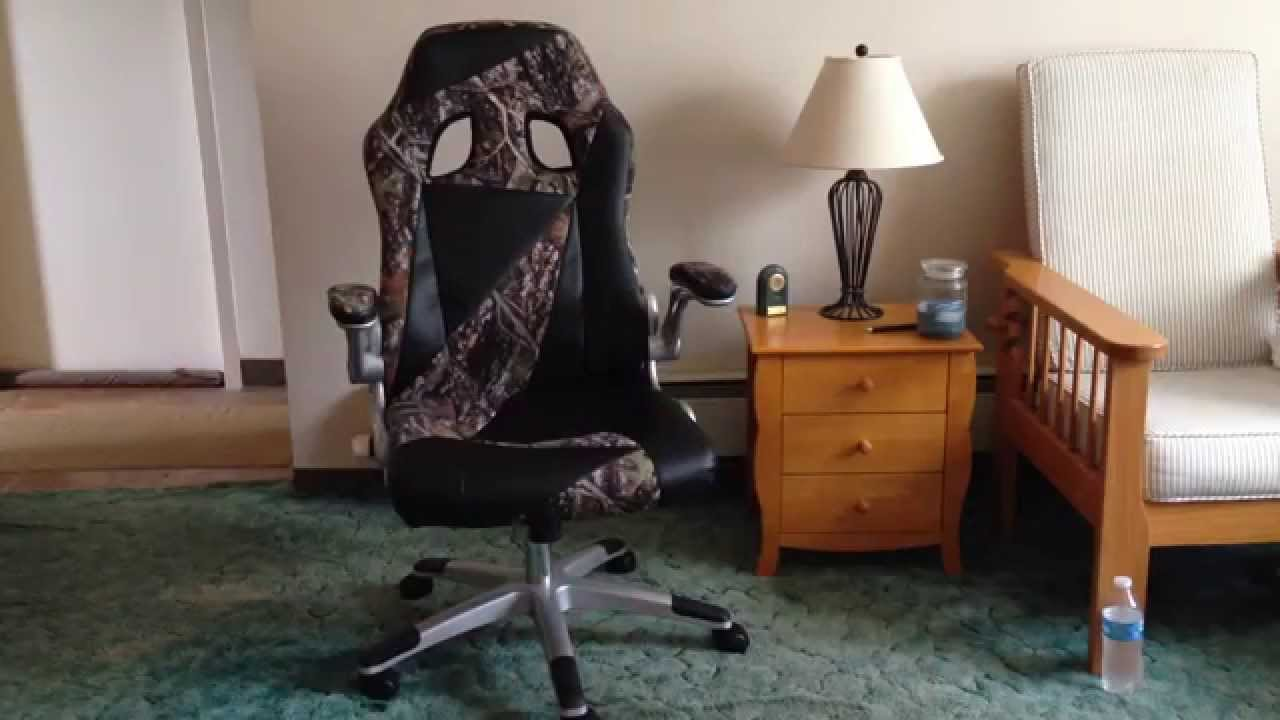 computer chair for gaming barber free shipping rural king camo office/gaming review - youtube