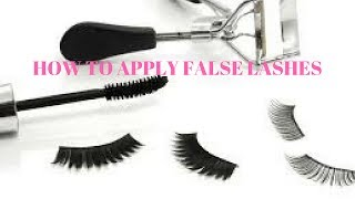 HOW TO APPLY FALSE LASHES-VLUXE LASHES