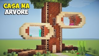 Minecraft Tutorial - Como Construir uma CASA NA ÁRVORE!! ‹ MANYACRAFT ›