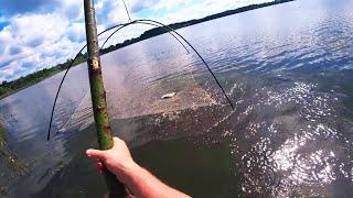 Рыбалка на паук Подъёмник на озере Поймал и отпустил всю рыбу Рыбалка на паук подъёмник