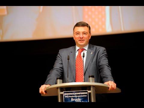 Rede von LR Jörg Leichtfried bei der SPÖ Regionalkonferenz Bruck-Mürzzuschlag 2015