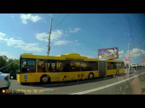 Минск.Поездка на автобусе №100 Аэропорт Минск-1 - Славинского