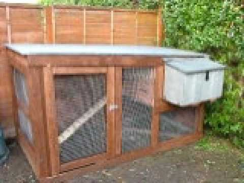 Homemade chicken coop youtube for Homemade chicken house