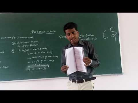 Project Work @ P.G(MBA) Level Procedure