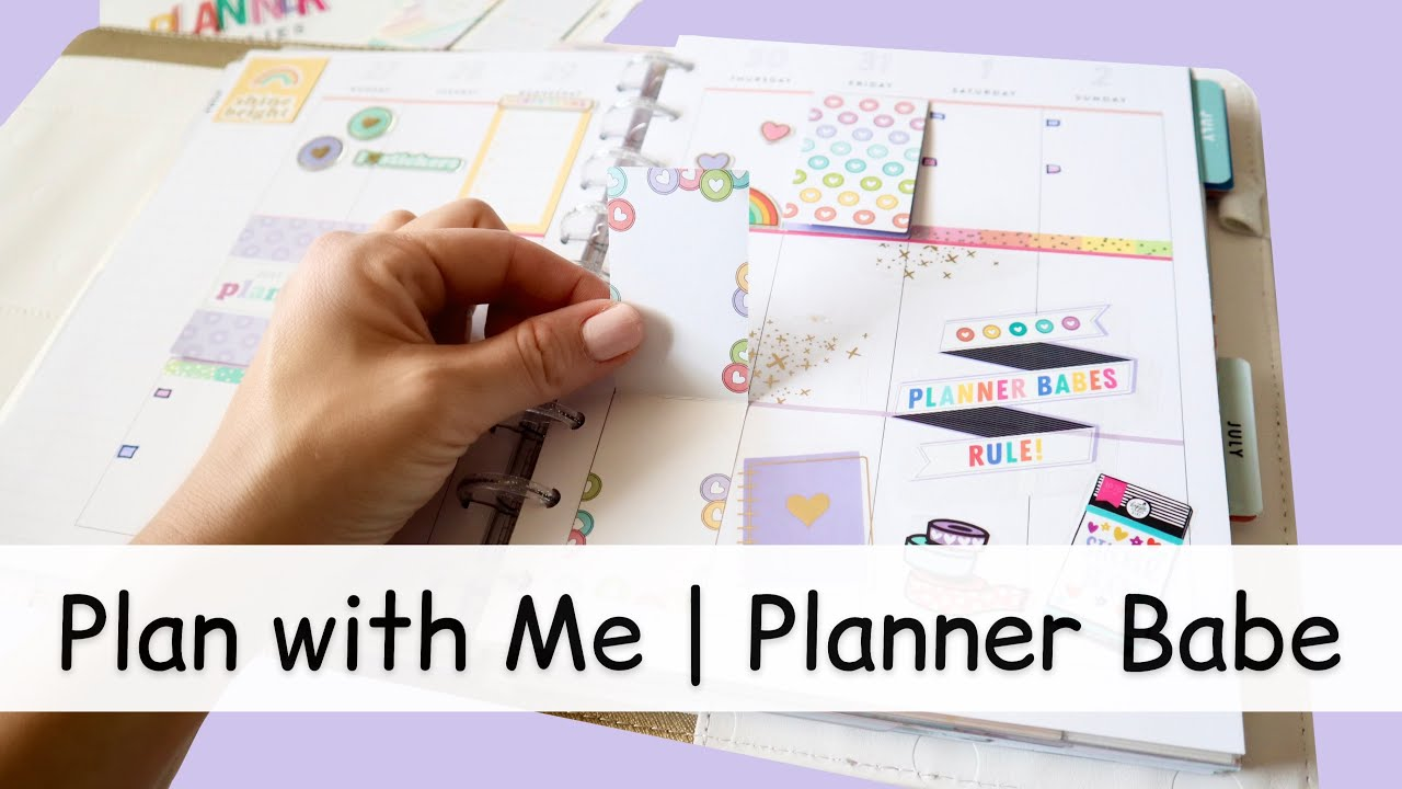 PLAN WITH ME | PLANNER BABE SPREAD IN MY HAPPY PLANNER VERTICAL