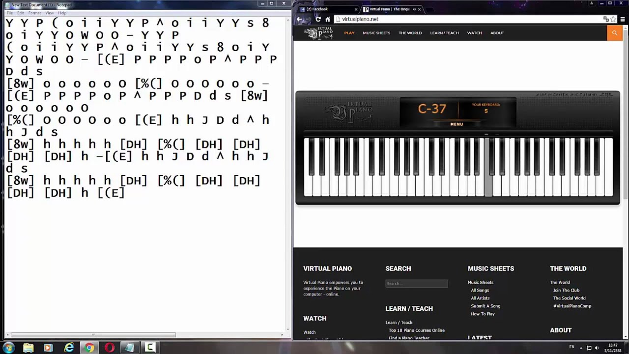 Imagine Dragons - Demons [Virtual piano] - YouTube