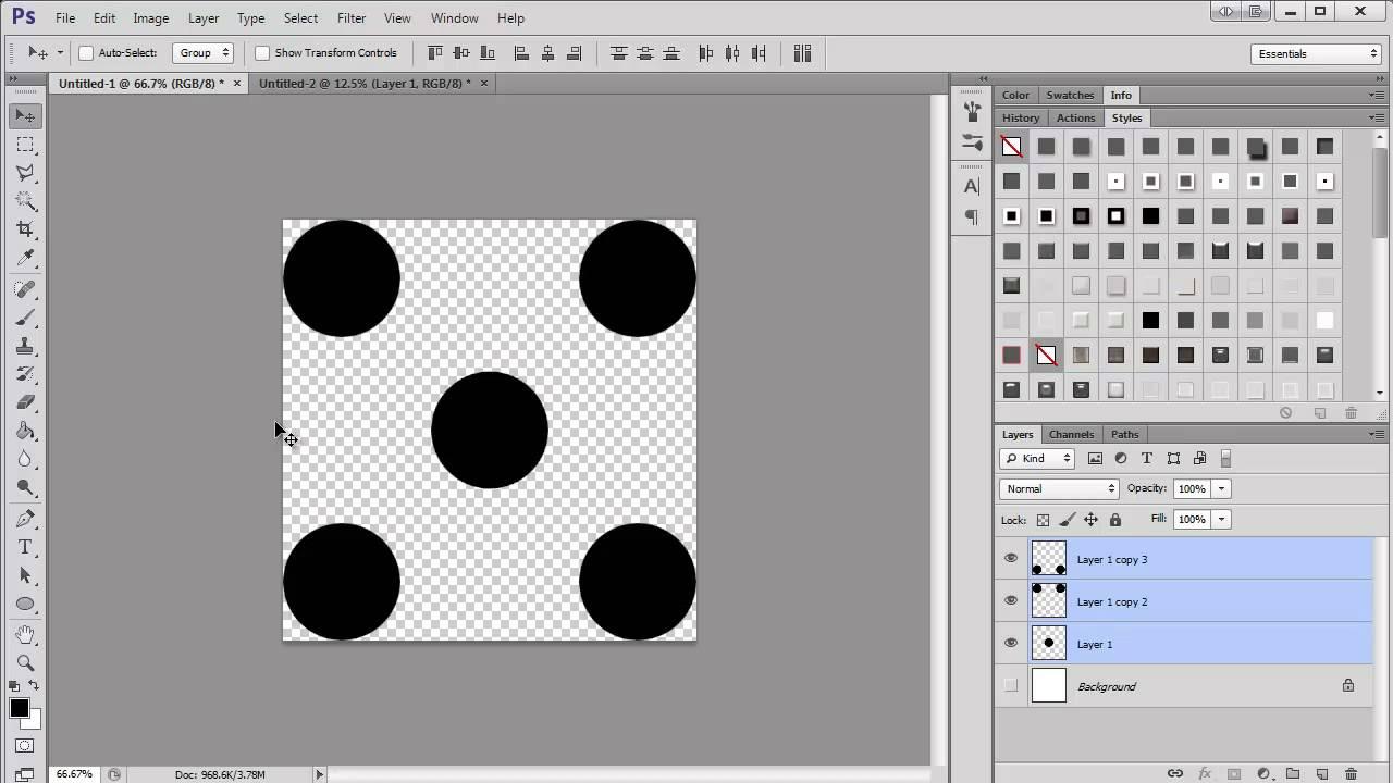 Making a Polka Dot Pattern in Photoshop - YouTube