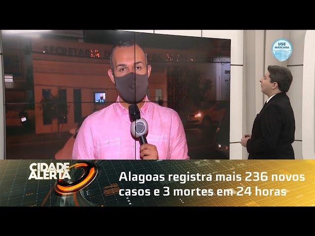 Coronavírus: Alagoas registra mais 236 novos casos e 3 mortes em 24 horas