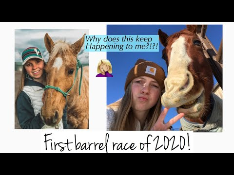 First Barrel Race Of 2020!! Barrel Racing Vlog || Camo Cowgirl