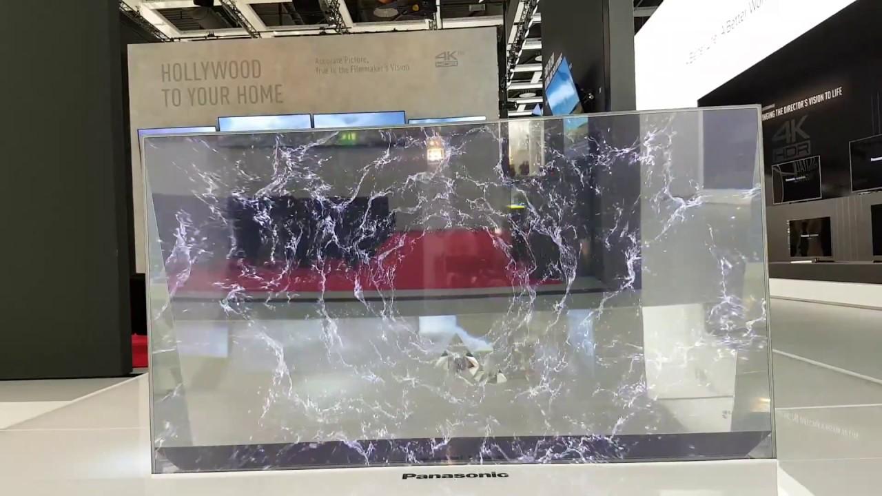 un écran oled totalement transparent panasonic pp world youtube