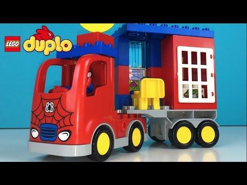 LEGO DUPLO MARVEL SPIDER MAN SUPER HERO SPIDER TRUCK ADVENTURE WITH GREEN GOBLIN MONEY BANK AND JAIL