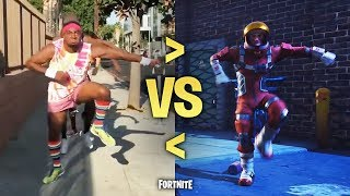 ALL FORTNITE BALLS in REAL LIFE New Dances Season 3 2018 Emote Character Dances
