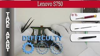 How to disassemble 📱 Lenovo S750 Take apart Tutorial