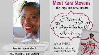 personal finance expert kara stevens on abundance sacred bombshell academy with abiola abrams