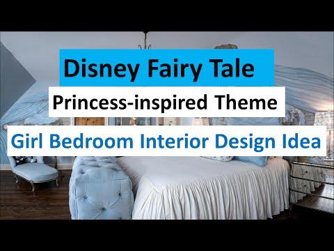 Girl Bedroom Interior Design Idea with Disney Fairy Tale Princess-inspired Theme