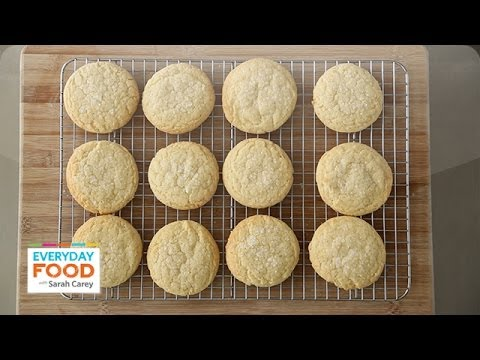 Old-Fashioned Lemon Sugar Cookie - Everyday Food with Sarah Carey