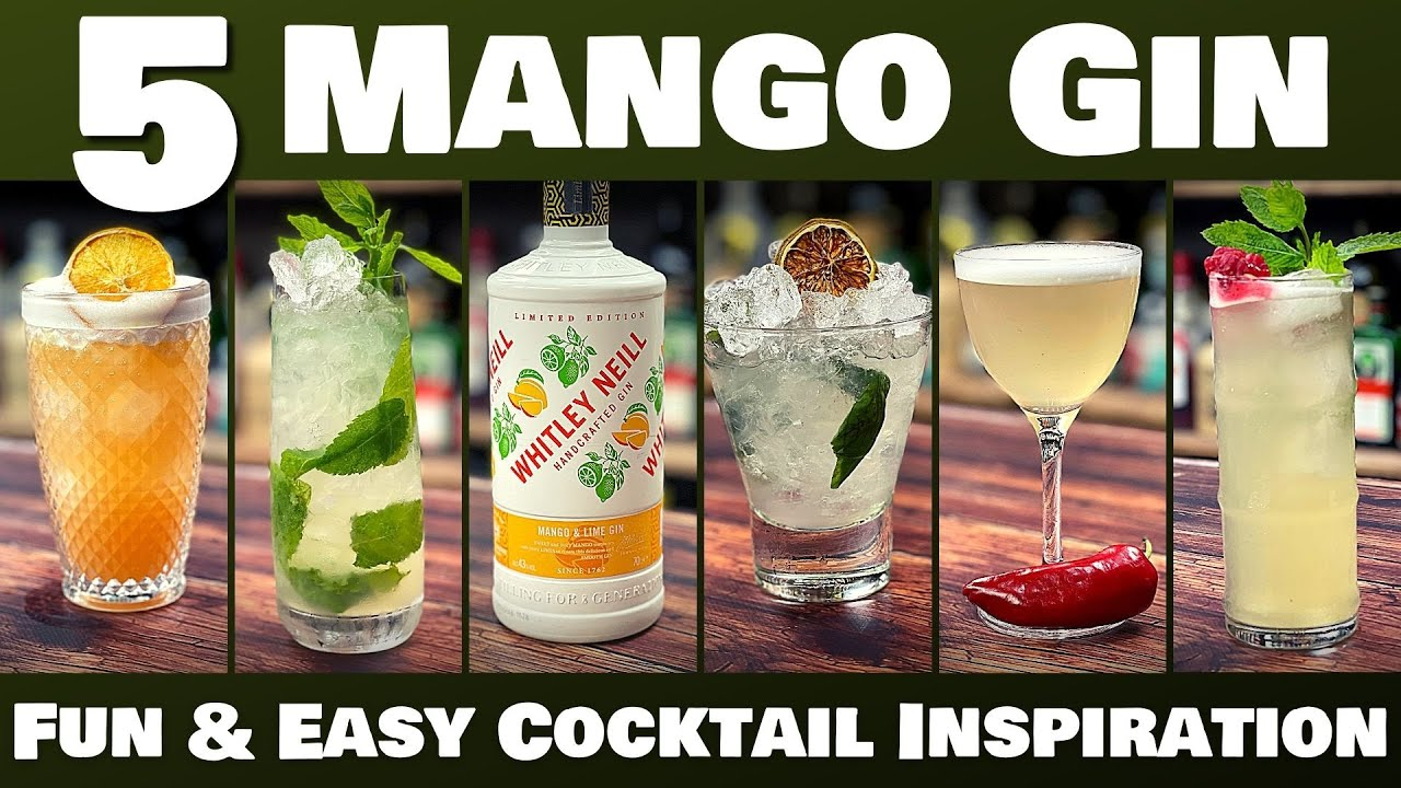 Download 5 Easy GIN Cocktails with Whitley Neill Mango and Lime Gin