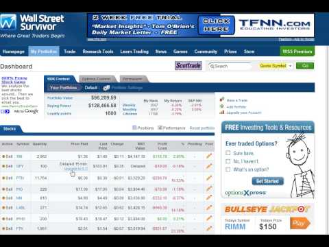 Wall Street Survivor - Upgrade to Real-Time Prices - YouTube