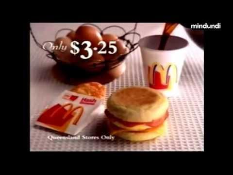Mcdonalds 1999 Vintage Australian Commercial Spot Ad Advert Breakfast $3.25