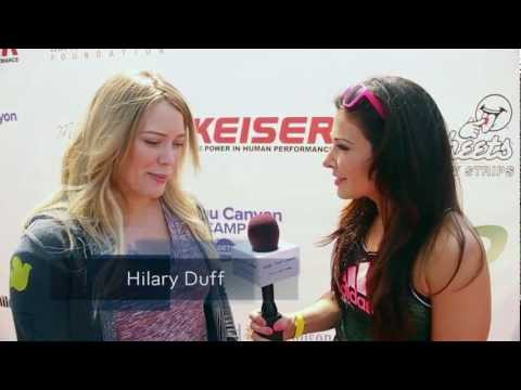 Hilary Duff and Evander Holyfield Interviewed by MizzFIT on Red Carpet thumbnail