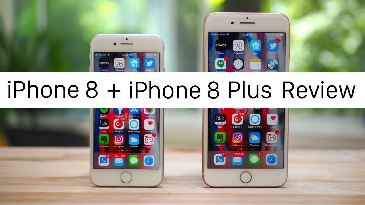 Iphone 8 And Iphone 8 Plus Review Youtube