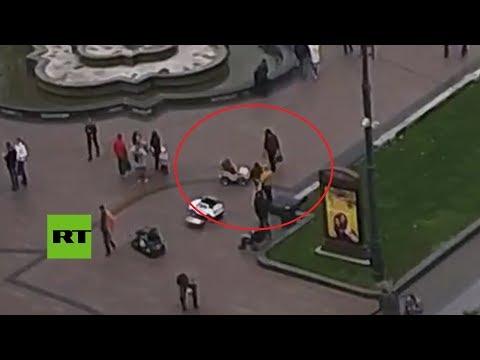 Ucrania: Una niña 'atropella' con su coche a un anciano en un parque