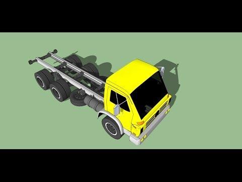 """""""modelagen 3D"""" caminhão volkswagen-arg-worker-26260 no SketchUp"""