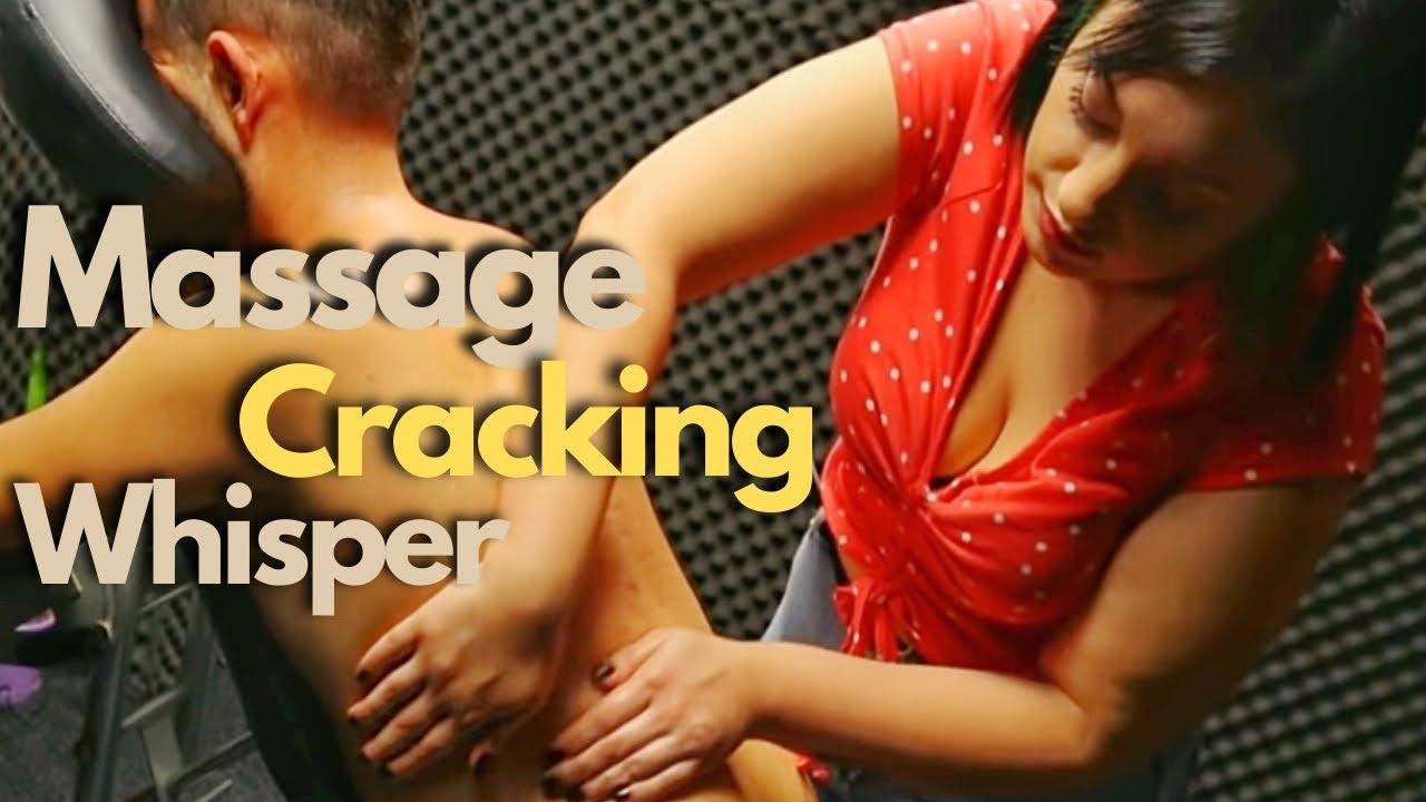 ASMR Miss OBEN •BACK MASSAGE AND CRACKING | WHISPERING NARRATION(Subtitled)