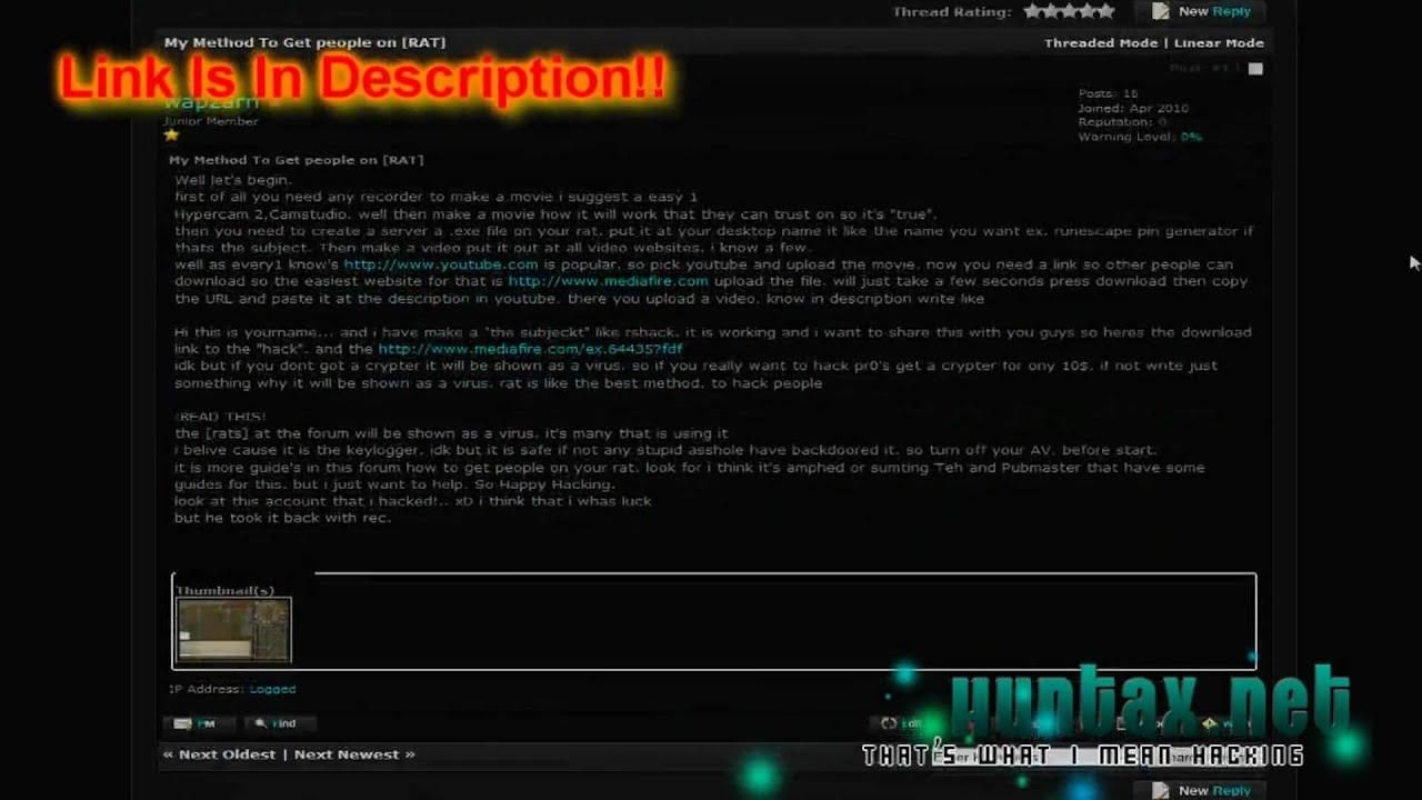 Rat Forum Hack