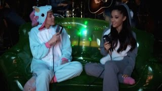 Watch Miley Cyrus and Ariana Grande Flirt During Flawless Cover of 'Don't Dream It's Over'