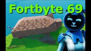 Fortbyte 69 - Encontrado dentro de una ubicación de stone PIG Building - Fortnite Utopia Mystery Skin Guide