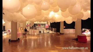 The rise and fall of a giant balloon cloud installation. www.balloons.com.au