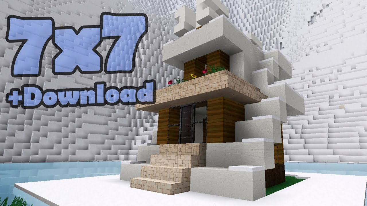 Minecraft 7x7 house 10 youtube for Minecraft modern house 7x7