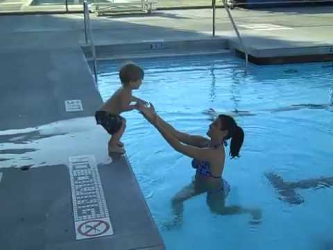 Jadon Jumps in the  Pool!
