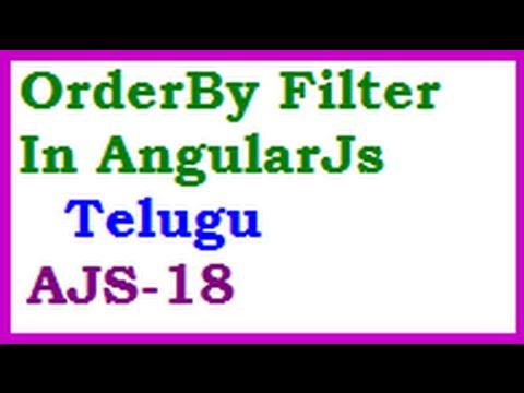 OrderBy Filter In AngularJs Telugu-vlr Training
