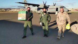 Las Fuerzas Armadas trasladan las primeras vacunas a Melilla