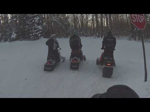 Snowmobile Trail Riding Tug Hill NY